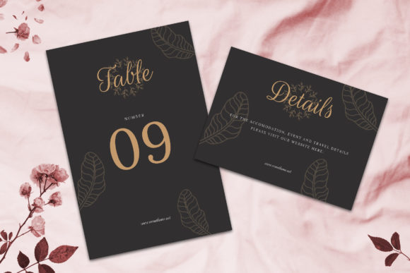 Print on Demand: Wedding Invitation Suite Vol. 02 Graphic Print Templates By rometheme - Image 4