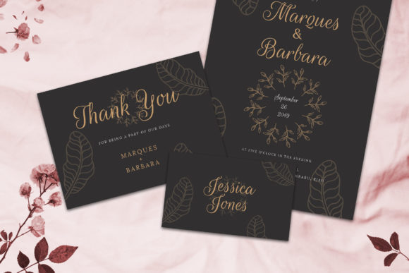 Print on Demand: Wedding Invitation Suite Vol. 02 Graphic Print Templates By rometheme - Image 5