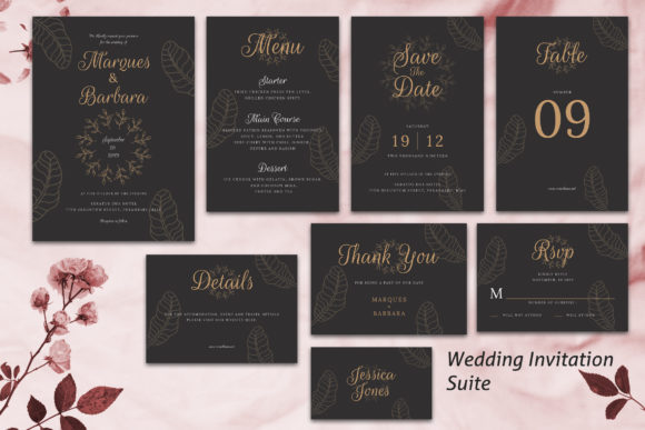 Print on Demand: Wedding Invitation Suite Vol. 02 Graphic Print Templates By rometheme - Image 1