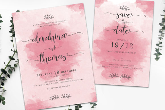 Download Free Wedding Invitation Suite Vol 01 Graphic By Rometheme Creative SVG Cut Files