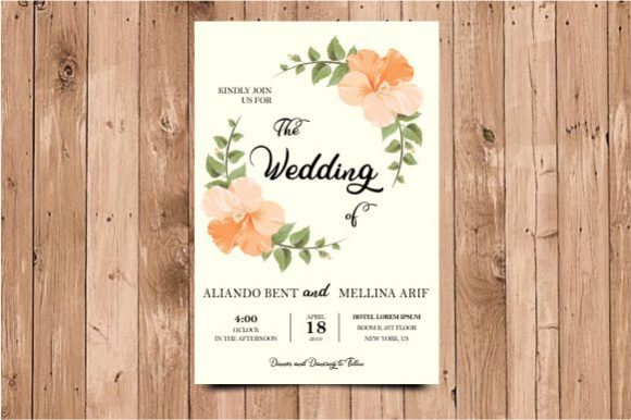 Download Free Wedding Invitation Template With Roses Graphic By Bint Studio for Cricut Explore, Silhouette and other cutting machines.