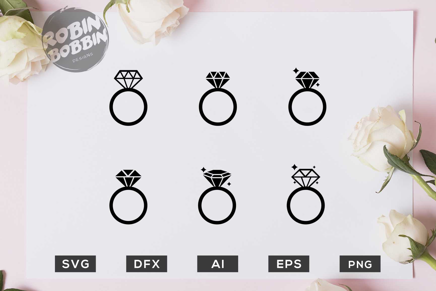 Wedding Rings Graphic By Robinbobbindesign Creative Fabrica