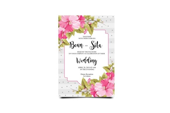 Download Free Modern Wedding Invitation Template Graphic By Bint Studio for Cricut Explore, Silhouette and other cutting machines.