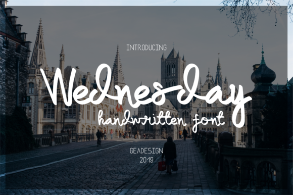 Print on Demand: Wednesday Script & Handwritten Font By geadesign