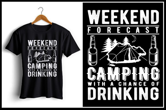 09de29c2b Weekend Forecast Camping with a Chance of Drinking Graphic by zaibbb ...