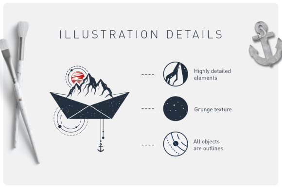 Print on Demand: Welcome Aboard. 15 Logos & Badges Graphic Illustrations By Cosmic Store - Image 3