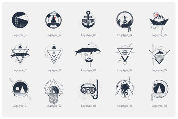 Print on Demand: Welcome Aboard. 15 Logos & Badges Graphic Illustrations By Cosmic Store - Image 4