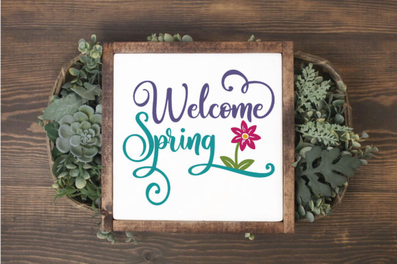 Download Free Welcome Spring Svg Cut File Spring Svg Grafik Von for Cricut Explore, Silhouette and other cutting machines.