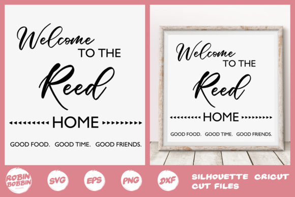 Print on Demand: Welcome to the Home Graphic Crafts By RobinBobbinDesign