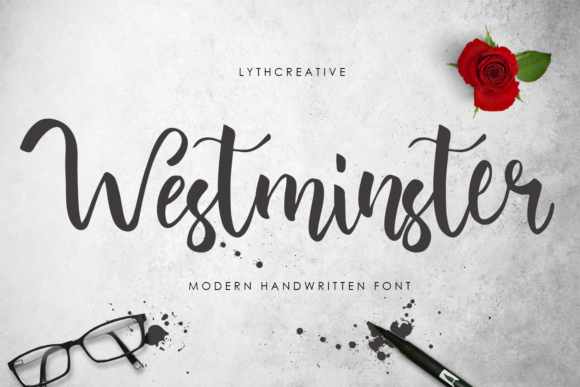 Westminster Font By lyanatha Image 1