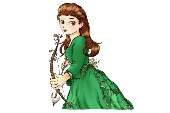 Whimsical Forest Archery Princess Graphic By Jen Digital Art Image 2