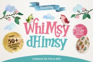 Print on Demand: Whimsy Dhimsy Decorative Font By RVST 1