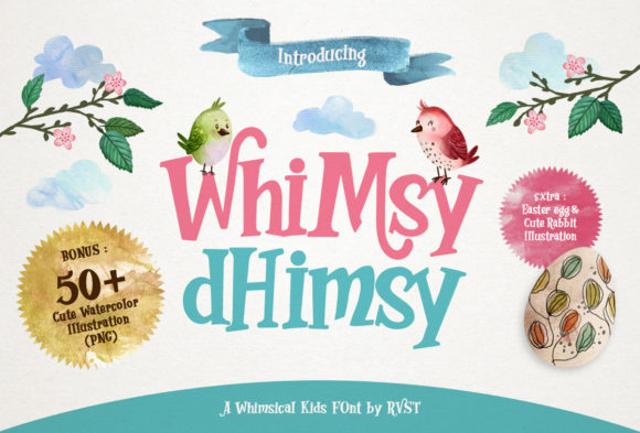 Print on Demand: Whimsy Dhimsy Decorative Font By RVST