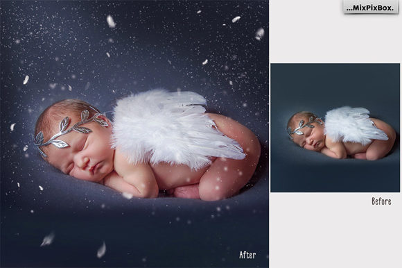 Print on Demand: White Feathers Overlays Graphic Layer Styles By MixPixBox - Image 2