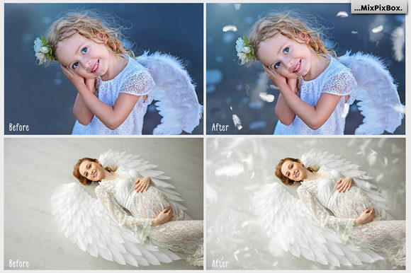 Print on Demand: White Feathers Overlays Graphic Layer Styles By MixPixBox - Image 3