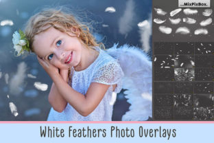 Download Free White Feathers Overlays Graphic By Mixpixbox Creative Fabrica for Cricut Explore, Silhouette and other cutting machines.