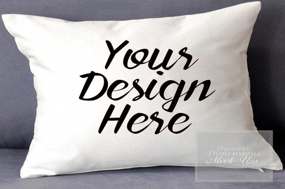 White Pillow Mockup Graphic Product Mockups By dynamicdimensions