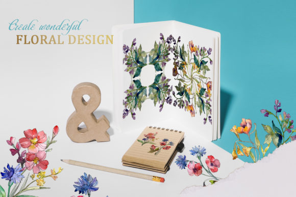 Print on Demand: Wildflowers Charming Watercolor Graphic Illustrations By MyStocks - Image 2