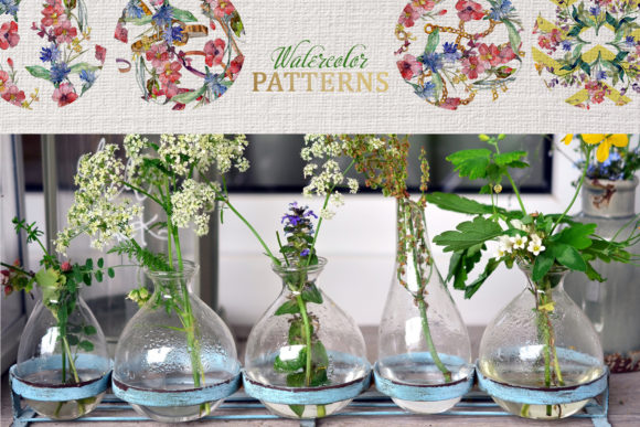 Print on Demand: Wildflowers Charming Watercolor Graphic Illustrations By MyStocks - Image 4
