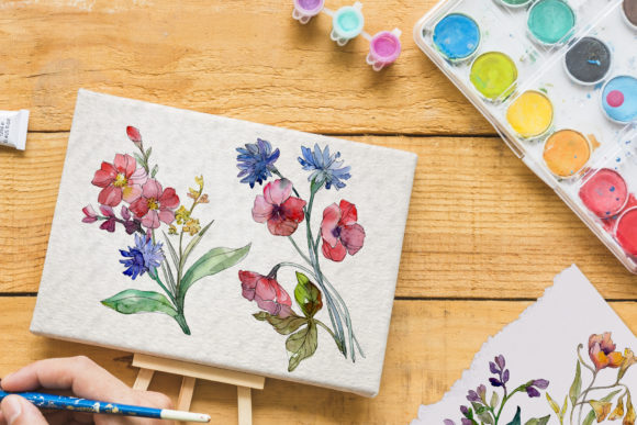 Print on Demand: Wildflowers Charming Watercolor Graphic Illustrations By MyStocks - Image 8