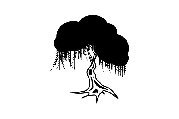 Willow Tree Silhouette Svg Cut File By Creative Fabrica Crafts
