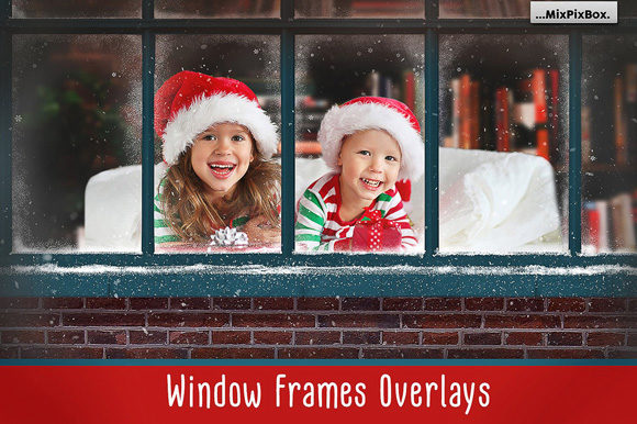 Print on Demand: Window Frames Overlays Graphic Layer Styles By MixPixBox