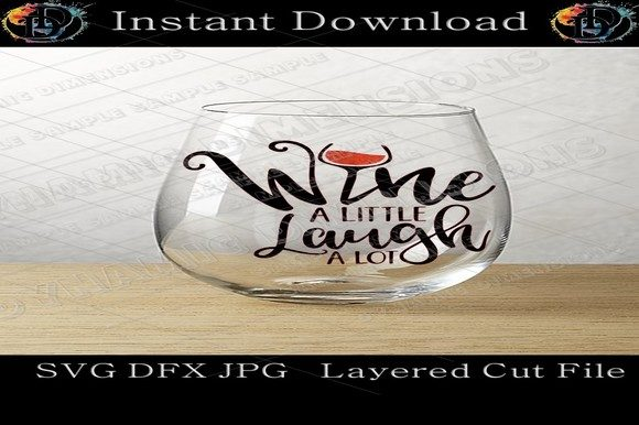 Print on Demand: Wine Glass SVG Graphic Crafts By dynamicdimensions