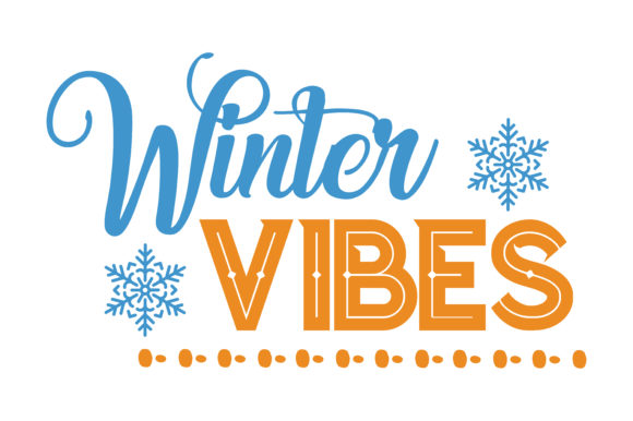 Print on Demand: Winter Vibes Quote SVG Cut Graphic Crafts By TheLucky