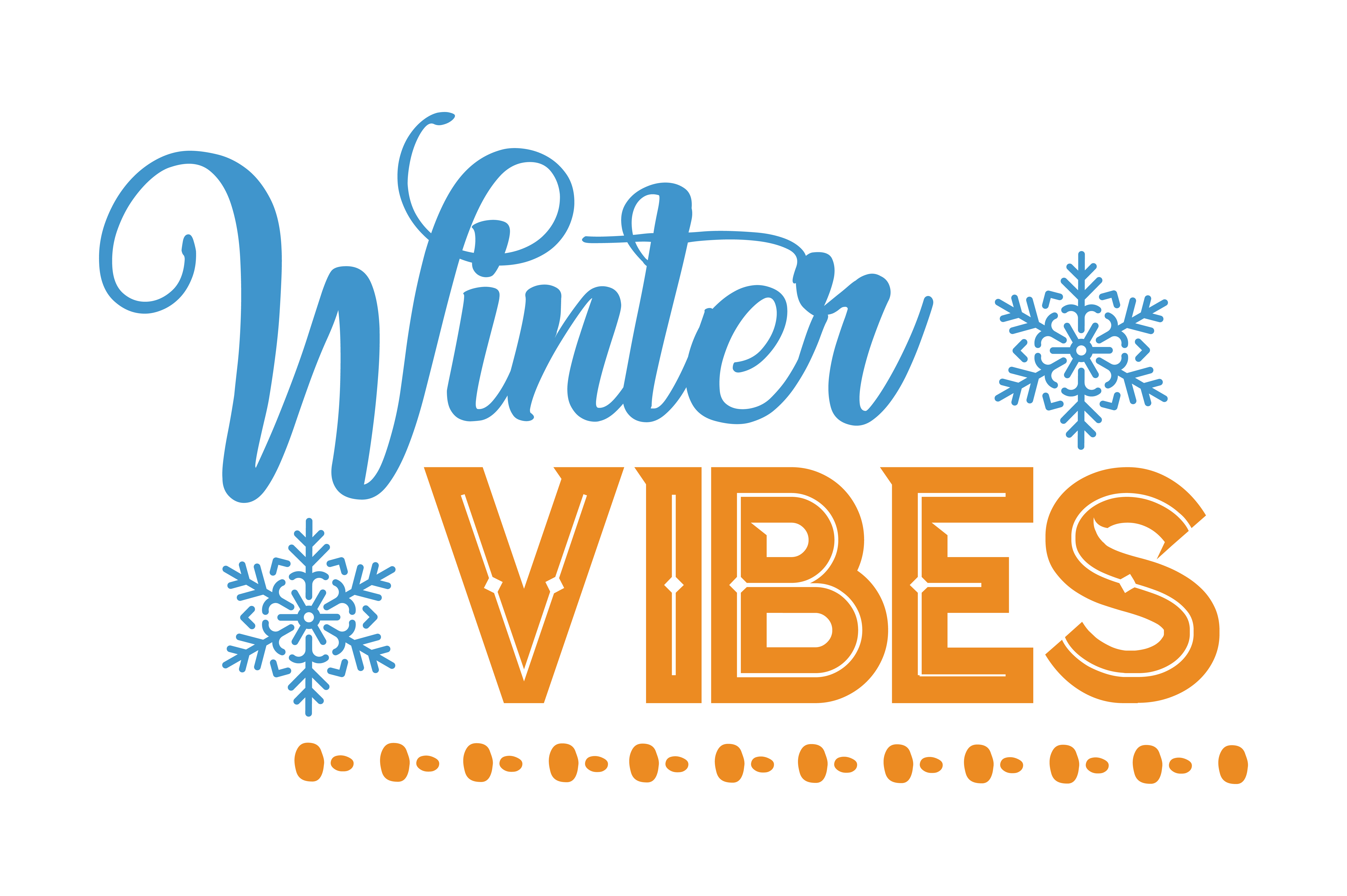 Download Free Winter Vibes Quote Svg Cut Graphic By Thelucky Creative Fabrica for Cricut Explore, Silhouette and other cutting machines.