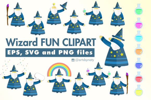 Print on Demand: Wizard Fun Graphic Illustrations By artsbynaty