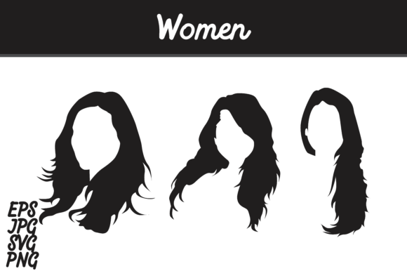 Download Free Women Silhouette Set Svg Vector Image Bundle Graphic By Arief for Cricut Explore, Silhouette and other cutting machines.