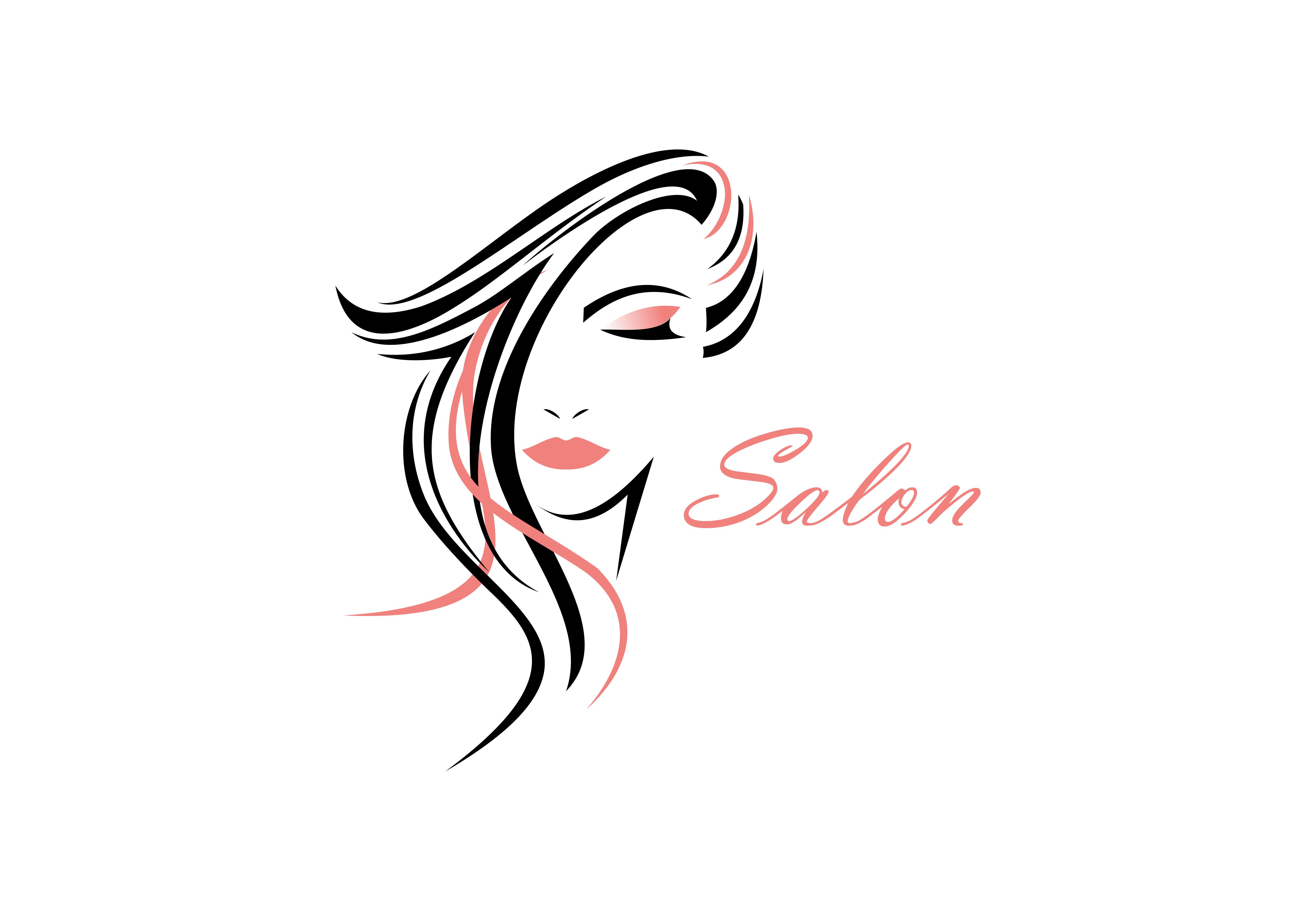 Download Free Women Face Hair Salon Logo Vector Graphic By Deemka Studio for Cricut Explore, Silhouette and other cutting machines.