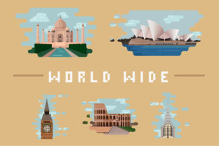 Print on Demand: World Wide Architectural Landmark Illustrations Collection Graphic Illustrations By arausidp