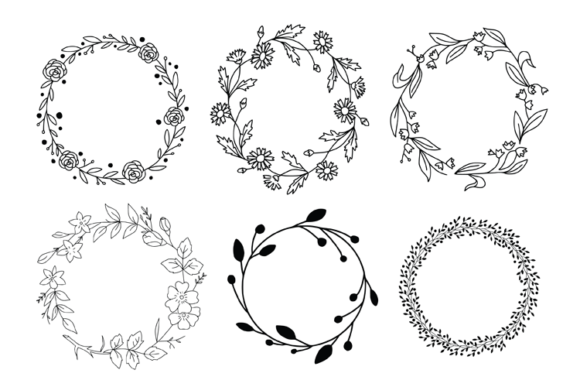 Wreaths Laurels and Branches Graphic Illustrations By carrtoonz - Image 3