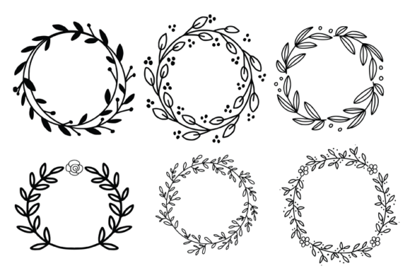 Wreaths Laurels and Branches Graphic Illustrations By carrtoonz - Image 4