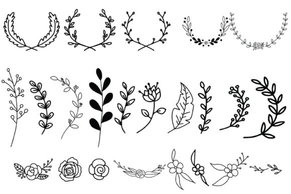 Wreaths Laurels and Branches Graphic Illustrations By carrtoonz - Image 5