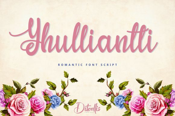 Print on Demand: Yhulliantti Script & Handwritten Font By Ditoollis Project