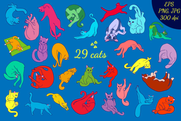 Yoga Cats Graphic By annamagenta Image 2