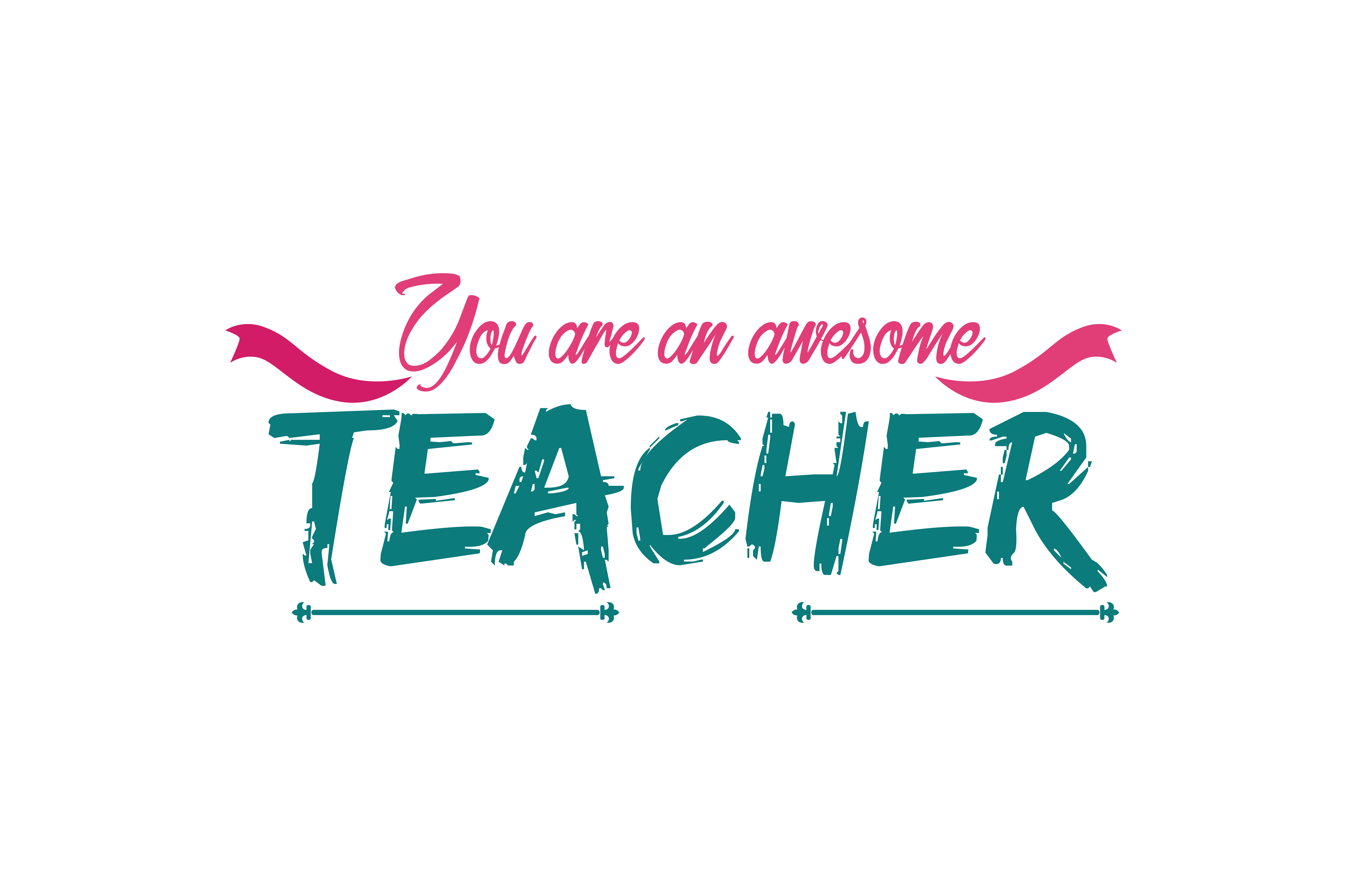 Download Free You Are An Awesome Teacher Quote Svg Cut Grafico Por Thelucky for Cricut Explore, Silhouette and other cutting machines.