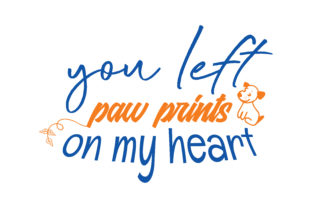 Download Free You Left Paw Prints On My Heart Quote Svg Cut Graphic By for Cricut Explore, Silhouette and other cutting machines.