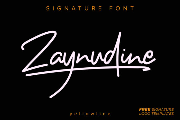 Print on Demand: Zaynudine Script & Handwritten Font By yellowline