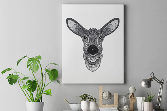 Download Free Zentangle Stylized Deer Heads Graphic By Lemoncraft Creative for Cricut Explore, Silhouette and other cutting machines.