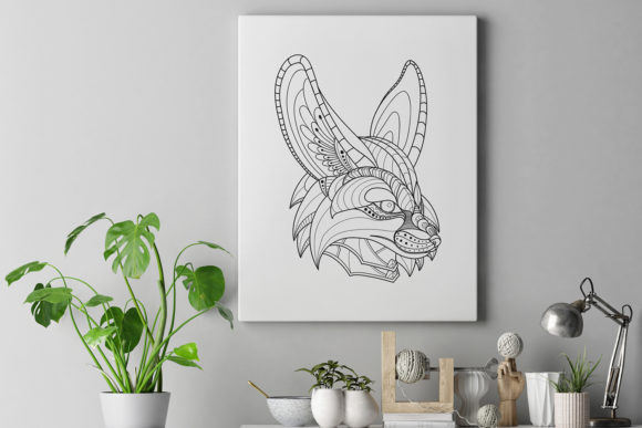 Download Free Zentangle Stylized Fennec Fox Head Pack Graphic By Lemoncraft SVG Cut Files