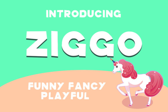 Print on Demand: Ziggo Display Font By Hahahihi