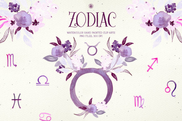 Print on Demand: Zodiac Signs Graphic Illustrations By webvilla