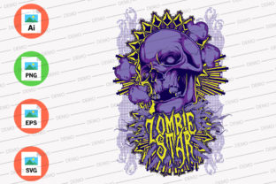 Zombie Star Blue Color Graphic Illustrations By Monkey Art Work