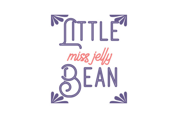 Print on Demand: Little Miss Jelly Bean Quote SVG Cut Graphic Crafts By TheLucky