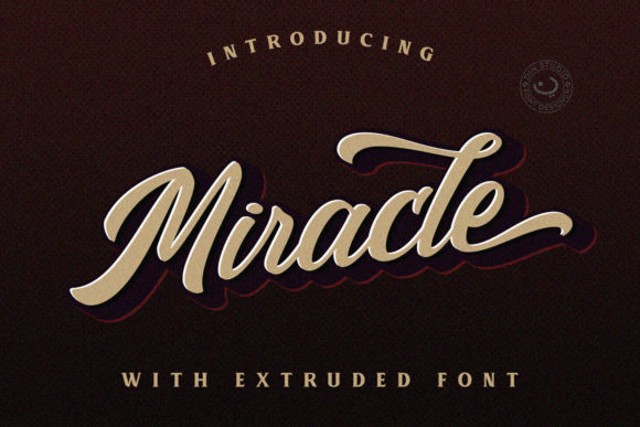 Print on Demand: Miracle Script Script & Handwritten Font By Din Studio