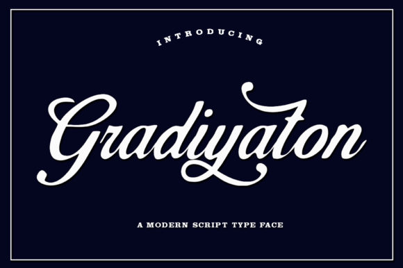 Print on Demand: Gradiyaton Script & Handwritten Font By IM Studio