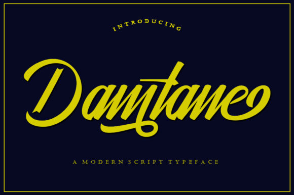 Print on Demand: Damtane Script & Handwritten Font By IM Studio